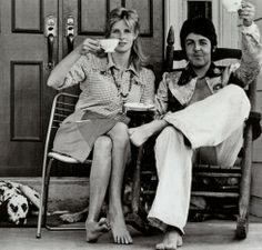 Paul and Linda McCartney, 1974  I love these two; RIP Linda.