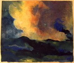The Sea (w/c), Nolde, Emil (1867-1956)