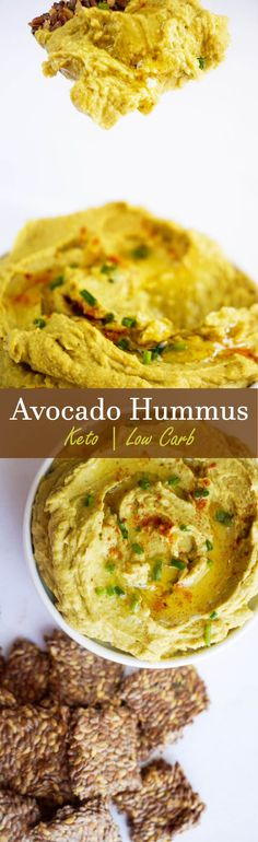 Creamy Avocado Hummus that's high in fat and fresh citrus