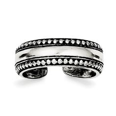 Sterling Silver Antiqued Toe Ring QR884