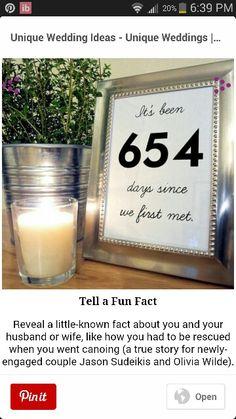 Wedding Ideas - Tell Fun Facts
