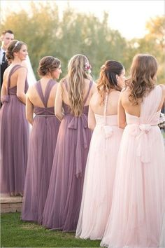 Convertible Long Bridesmaid Dresses By Jenny Yoo / http://www.himisspuff.com/convertible-bridesmaid-dresses/10/