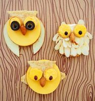 Owl Cheese and Cracker Treats - Things to Make and Do, Crafts and Activities for Kids - The Crafty Crow