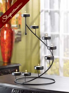 20 Dramatic Black Candle Holder Spiral Stair Centerpieces
