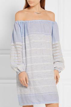 LemLem   Almaz off-the-shoulder striped cotton-blend gauze mini dress   NET-A-PORTER.COM