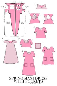 Cute Spring Maxi Dress with Pockets Tutorial from Merrick's Art