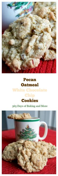 These Pecan Oatmeal White Chocolate Chip Cookies are filled with wonderful flavor and will be a highlight on any holiday cookie tray this year and beyond!