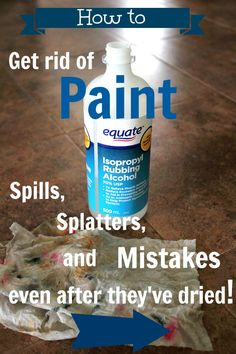 One easy trick to remove painting mistakes after they've dried without scraping!---rubbing alcohol