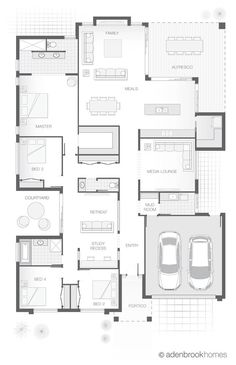 Here's a goodie floor plan for you today. Pretty standard for a residential block of land. 4 beds, 2 bathrooms, a powder room, and a...