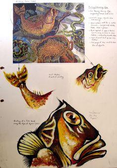 gcse-art-sketchbook-fish