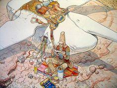 Comic Book Artist: Moebius | Abduzeedo Design Inspiration