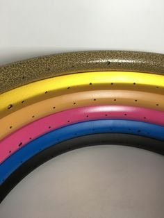 Colorful surface bicycle rims