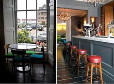 Red-topped bar stools give just the right POP of color: http://www.parknpool.com/products/71/publish/english/71bc-062-trent-barstool-23260.php