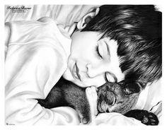"""""""Dolce nanna"""" - matita su cartoncino Fabriano Watercolour 28x35,6"""