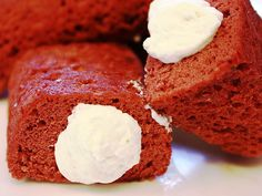 "Red velvet ""Twinkies"" — a riff on the childhood favorite! http://greatideas.people.com/2014/02/10/red-velvet-twinkies-recipe-valentines-day/"
