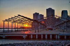 Sunset along the Brooklyn boardwalk Brooklyn, Louvre, Sunset, Building, Photography, Travel, Sunsets, Photograph, Viajes