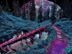 Collage Artists, Surreal Art, Digital Collage, Art Day, Paths, Hiking, Purple, Nature, Artwork