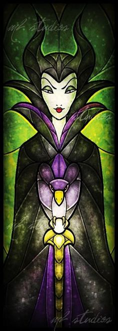 Disney Stained Glass - Maleficent