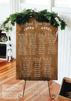 Rustic Wedding Seating Chart Large 2' x 3' by SweetNCCollective