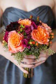 Jewel-toned bouquet: http://www.stylemepretty.com/pennsylvania-weddings/philadelphia/2015/05/29/gem-toned-philadelphia-fall-wedding/ | Photography: Sweetwater - http://www.sweetwaterportraits.com/