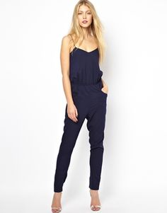 Lavish Alice Cami Jumpsuit - put this with a white collarless blazer and a pop of color clutch for a spring look Short Beach Dresses, Latest Fashion For Women, Womens Fashion, Spring Summer Fashion, Passion For Fashion, Dress To Impress, Ideias Fashion, Vogue, Fashion Outfits