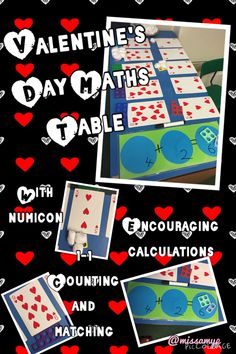 Can't believe I never though if using the hearts cards before for Valentine's Day maths! Supported by Numicon (missamyp)