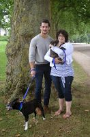 David Gandy and Lisa Rosenberger during a charity Dog Walk for Battersea Dogs and Cats Home, September, 2014.  My Dog Walk with David Gandy (by Lisa Rosenberger)