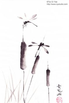 Original Sumi-e For Sale- Tai Oi Yee's Chinese Ink Painting Gallery 戴愛兒…