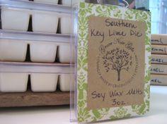 SALE - KEY LIME Pie Soy Wax Tarts Southern Key Lime by gracenotegifts, $2.50