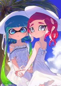 Splatoon: Image Gallery - Page 3 Nintendo Splatoon, Splatoon 2 Art, Splatoon Squid Sisters, Squid Girl, Pokemon, Video Game Characters, Kawaii Cute, Cute Art, Anime Art