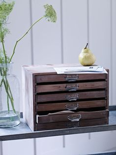 Made from untreated pine wood with six industrial handles and six shallow numbered drawers, each of these individually made drawers features a stamped industrial number on the top and a stylish distressed finish. Display in your home office or hallway and use for paper and post. affiliate link