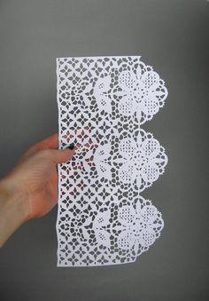 Flower Lace Papercut Scherenschnitte in White by catfriendo, $40.00
