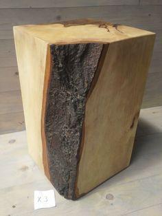 Holzsäule Sitzblock Hainbuche Klotz Cube Hocker Massivholz Sitzklotz Holzklotz @