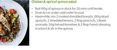 Chicken & apricot quinoa salad