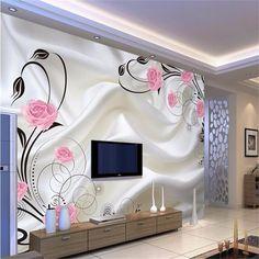 16.00$ Watch now - http://alivgf.shopchina.info/go.php?t=32774218385 - Beibehang wallpaper Large sofa TV background wall paper mural wall art roses 3d mural wallpaper papel de parede 3d wallpaper 16.00$ #buyonline