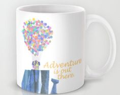 adventure is out there, disney pixar up, mug