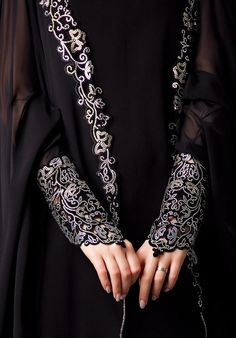 The detail on the sleeves is amazing. Really makes a black abaya something special.