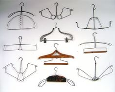 Lost Found Art - Antique Wire Clothing Hangers