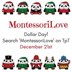 #MontessoriLove December 21st 2017 - Dollar Day! Learn more...