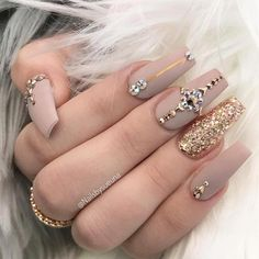 54 Unique and Beautiful Nail Designs To Try Now; Stiletto Nail nail a. - Nail Design Ideas, Gallery of Best Nail Designs Rhinestone Nails, Bling Nails, Stiletto Nails, Coffin Nails, Nail With Rhinestones, 3d Nail Art, Cool Nail Art, Classy Nail Art, Trendy Nail Art