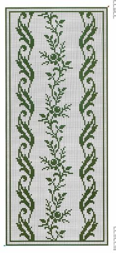 Crochet Border Stitch I'd do it in a different colour. Funny Cross Stitch Patterns, Cross Stitch Borders, Crochet Borders, Cross Stitch Rose, Cross Stitch Flowers, Cross Stitch Designs, Cross Stitching, Cross Stitch Embroidery, Embroidery Patterns