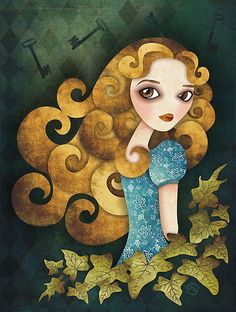 I really like her wave-like hair.   Alice in Wonderland by sandygrafik