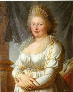 """Charlotte, Princess Royal of Great Britain. (1766-1828) Oldest daughter of George III and Queen Charlotte. An intelligent and artistic woman, who wore her parents down, finally persuading them to let her marry Frederick, Duke (later King) of Wurttemberg, as his second wife.  A man with a scandalous past, he became an ally of Napoleon's.  King George refused to address his daughter as Queen of Wurttemberg.  In spite of the family drama, """"Royal"""" likely had a happier life than her spinster…"""