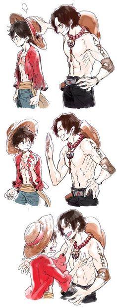 One Piece Manga, One Piece Ace, One Piece Funny, One Piece Comic, One Piece Fanart, Anime Neko, Kawaii Anime, Anime Art, Ace Sabo Luffy
