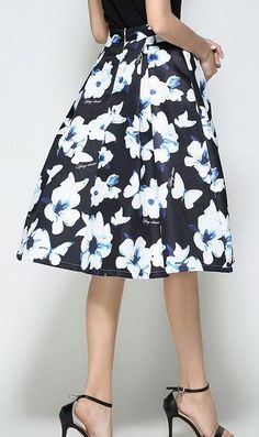 b3d72b31f Women s Going out Midi Skirts A Line Print Summer Corte Y Confección
