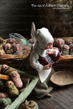 Faery Godmother in the fae nursery by Álvaro Herranz