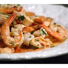 SHRIMP MARINATED IN LEMON, GARLIC, AND PARSLEY FOR 30 MINUTES, THEN GRILLED. CAN BE USED AS AN APPETIZER OR MAIN DISH. THIS RECIPE ALSO WORKS WELL FOR SCALLOPS.