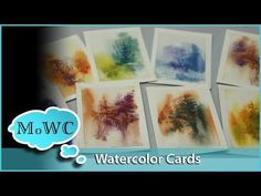 Painting Watercolor Greeting Cards and Trading Cards - YouTube