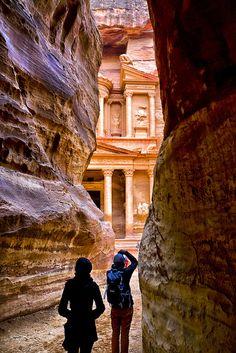 end of the siq, Petra, Jordan photo by Audun Bakker Andersen