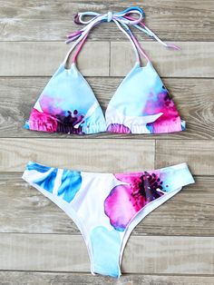 7c9d7861825e9 SheIn offers Printed Triangle Beach Bikini Set more to fit your fashionable  needs.